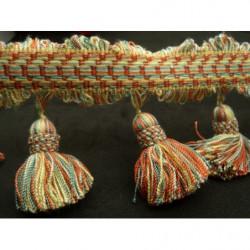 tissu crêpe vert en forme d'étoile blanche