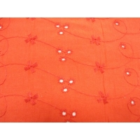 TISSUS BRODERIE- 160 cm- ROUGE