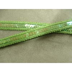 Galon Pailleté 1 cm-    très souple - vert