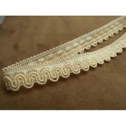 ruban brodé 5 cm- motif fleur - rouge et rose