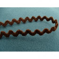 COL - Motif fleur brodé en 3D- rouge et vert