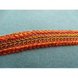 fleur brodé EN 3D- Rouge et vert