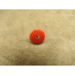 BOUTON motif petit strass- rouge