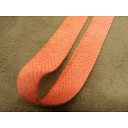 ruban sergé- 15 mm- orange