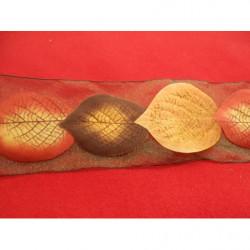 tissus velours- 150 cm- miel et noir