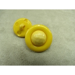 bouton  bicolore composé -22 mm- jaune