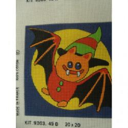 bouton bicolore composé -22 mm- fuschia