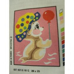 bouton  bicolore composé -28 mm-noir et rouge