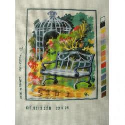 bouton  bicolore composé -28 mm- vert