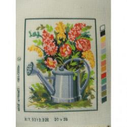 bouton bicolore composé -22 mm- violet et rouge