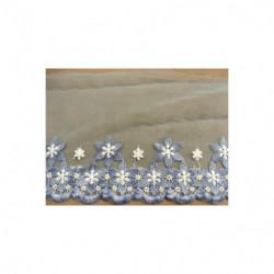 ruban froncé pailleté rose ,4.5 cm, stretch sur tulle, idéal pour accessoires mode- vêtements de danse, robes de soirées