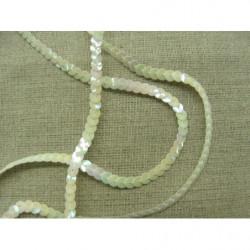 bouton brandebourg perlé gris,14 cm  largeur et 5 cm de hauteur