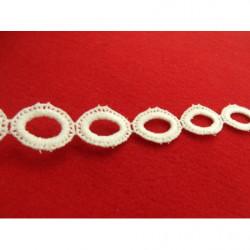 ruban perlé nacré, 1 cm, entouré de strass