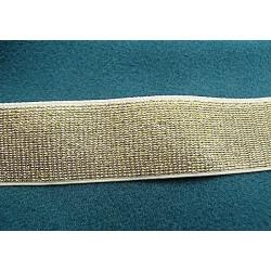 ruban brodé mordoré reversible, 5 cm, idéal pour customiser vos vêtements et tout objets de décoration