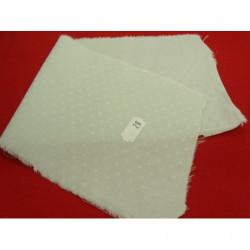 bouton acrylique blanc et argent,20 mm,sublime pour chemisier, robe , pull, veste,