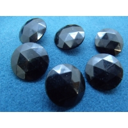 bouton acrylique noir multifacette,21 mm, idéal pour chemisier, robe , pull, veste,