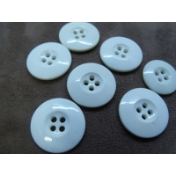 bouton acrylique blanc à 4 trous,22 mm, idéal pour chemisier, robe , pull, veste,