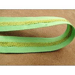 ruban organza  rouge  brodé, 4 cm,perle de rocaille, idéal pour toutes décorations et finitions et embelli vos articles
