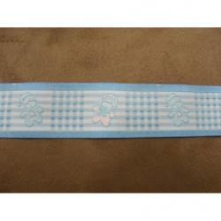 ruban satin deux faces- violet- 6mm