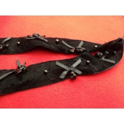 ruban velours noir nœud papillon