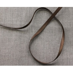 ruban satin deux faces- marron- 6mm