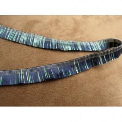 Ruban satin 2 faces-jaune-10mm