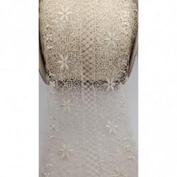 ruban frange pompom viscose rose,5 cm, parfait  pour customiser un vêtement ,robe ,tee shirt ,ou un objet ,chapeau, sac