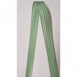ruban gros grain  beige  avec bande velours centrale, 2 cm, sublime  pour tous vos loisirs créatifs : couture,