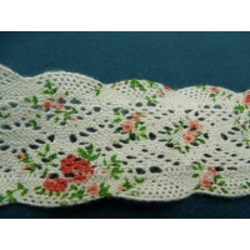 dentelle crochetée,100% coton, 4 cm,Idéal pour customiser un vêtement, une robe,chemisier, sac, pochette