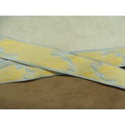 Ruban tissé-25mm-beige bleu