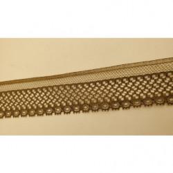 dentelle froncé gris clair, légèrement élastique ,3 cm,idéal   pour customiser un vêtement, une robe,chemisier, sac, pochette