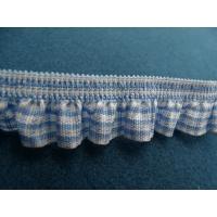 ruban plissé froncé bleu et blanc, 2cm,  parfait  pour customiser , vêtements , sac, pochette ....