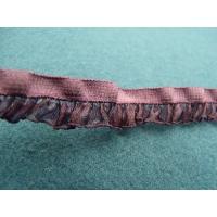 ruban fantaisie froncé violet,1.3 cm,sublime  pour customiser , vêtements , sac, pochette ,