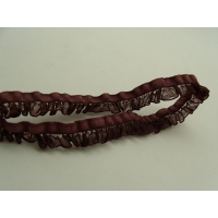 ruban fantaisie froncé bordeaux,1.3 cm,idéal   pour customiser , vêtements , sac, pochette ,