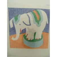 CANEVAS MOTIF ELEPHANT 20X20 cm