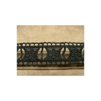 GUIPURE coton noir,3 cm