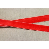 Ruban velours rouge orange, 25 mm
