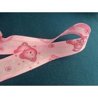 Ruban biais enfants fleur rose,motif nounours,25 mm,