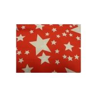 tissu coton imprimé rouge étoile blanc,145 cm,100%coton