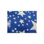 tissu coton imprimé bleu étoile blanc,145 cm,100%coton