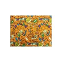 tissu coton imprimé BUGS orange, 150 cm,100%coton