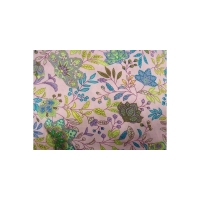 tissu coton imprimé fleur rose & parme ,150 cm,100%coton