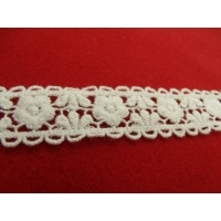 guipure coton entre 2 blanche,2.5 cm