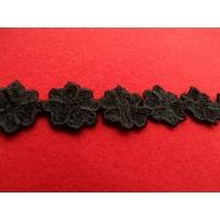 GUIPURE coton noir,2 cm