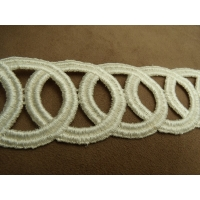guipure coton écru,5 cm