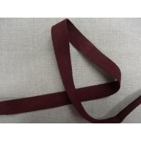 Ruban sergé coton bordeaux ,2 cm
