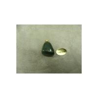 PENDENTIF MOTIF PIERRE- AVENTURINE,HAUTEUR: 2 cm / LARGEUR 1,5 cm / EPAISSEUR: 1,5 cm