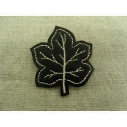 ruban elastique face velours- 2 cm- noir