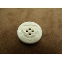 BOUTON ACRYLIQUE ANCRE MARINE blanc ,23 mm,très tendance