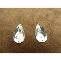 strass goutte argent, 22 mm, convient pour vêtement, pochette, sac..., vendu par 10 pièces